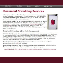 New England Document Systems image: The company's shredding services  are included in your basic scanning bid.