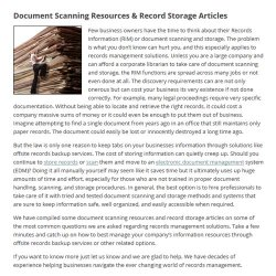 Record Nations image: You'll find a page of useful articles on the Record Nations' website including this one that cautions you that going without properly backed up records puts your company in legal jeopardy.