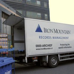 Iron Mountain image: Trucks and vans are tracked in transit to keep your documents secure.
