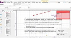 Foxit PhantomPDF image: This software has measuring tools to confirm the distance between margins so your document appears on the screen or paper like you want it to.