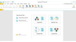 Lightning PDF Professional image: In addition to converting files to PDF, you can combine, edit and create PDFs.