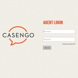 Casengo image: You can even brand the login to promote your company.