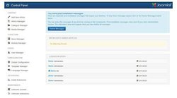 Joomla image: The Control Panel is intuitive to use.