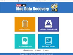 MiniTool Mac Data Recovery has a simple homepage that makes it easy for you to initiate a task.