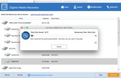 MiniTool Mac Data Recovery can easily monitor the time and data progress of a scan with the progress bar.