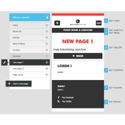 Onbile image: You have the option to edit every aspect of your page.