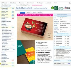4Over4 image: You can choose from a variety of sizes, paper types and finishes for your business cards.
