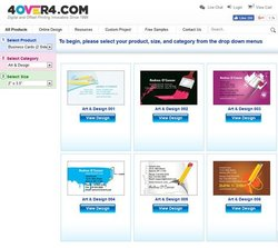 4Over4 image: The service has a large selection of pre-designed templates.