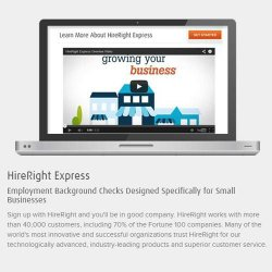 HireRight Express image: This site serves both small and large businesses.