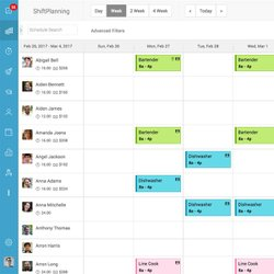 Humanity image: You can easily create schedules in a calendar view with Humanity software.