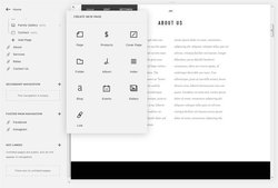 You can add common features, including image galleries, integrated blogs and calendars using Squarespace.