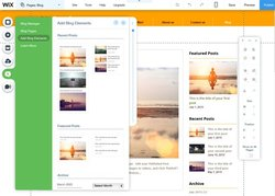Wix has an integrated blog, making it easy to add content each week.