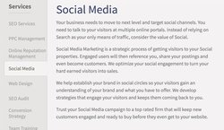 SEO Image image: This company works with social media to drive traffic to your website.