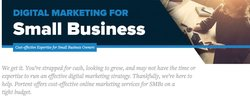 Portent image: If you own a small business, Portent has cost-effective marketing plans.