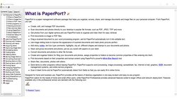PaperPort image: The software has several helpful resources, including a user guide you can search through.