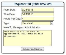 Though it takes a few steps, requesting PTO isn't difficult.