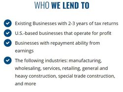 Newtek's website has a short list of requirements to qualify for a small business loan.