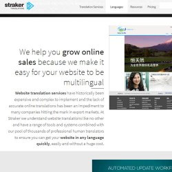 Straker Translations image: You can have your entire website translated quickly.