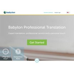 Babylon Professional Translation image: This company offers one-hour service on most translations.