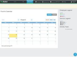 FlexBooker image: From the dashboard, you can simply click on the date your customer wants an appointment on.