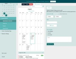 Acuity Scheduling image: In addition to creating appointments for your customers, you can use this application to keep track of employee schedules, including when they are available or when they're taking time off.