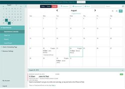 Acuity Scheduling image: The dashboard gives administrators and staff a calendar view of their schedule for the month, week or even day.