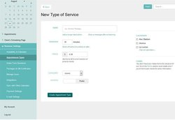 Acuity Scheduling image: From the dashboard, you can set up the type of appointments your company will offer.