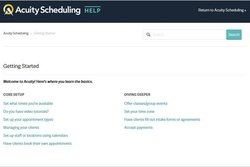Acuity Scheduling image: This service has a knowledge center you can use as a guide when setting up the software.