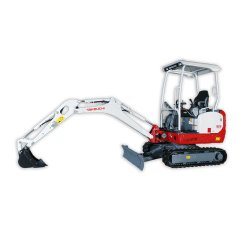 Takeuchi TB216 Compact image: The digging depth of this machine is 7 feet 10 inches.
