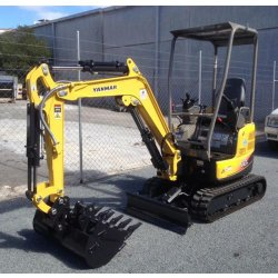 Yanmar ViO17 image: The machine has rubber tracks that help keep its weight down.