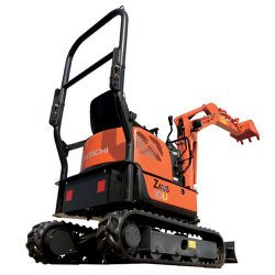 Hitachi ZX10U-2 image: This machine weighs 2,447 pounds and is 9.7 by 4.8 feet.