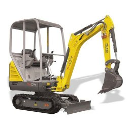 Wacker Neuson 1404 image: The engine of this excavator can generate 17.9 horsepower and will rev to 2,200 rpm.