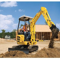 New Holland E18B image: This excavator gives a ground pressure of 4.5 pounds per square inch.