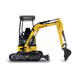New Holland E18B image: When the machine is in full extension, it will leave 52.4 inches between tracks.