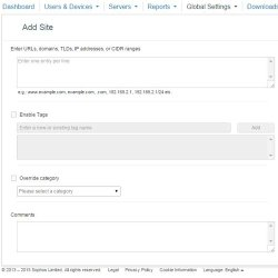 SOPHOS Endpoint Protection image: Using the tabs in the dashboard you can specify settings and configure your network.