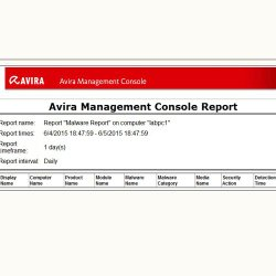 Avira Small Business Security Suite image: Reports are viewed as graphics from the console.