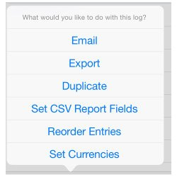 BizXpense Tracker image: You can export data to Dropbox or Google Drive.