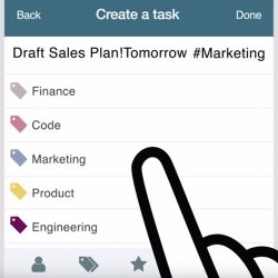 Producteev image: The mobile apps have touchscreen menus for adding task information like due dates, assigning the task to projects or people, or creating a priority.