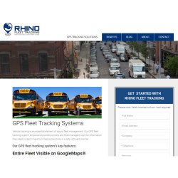 Rhino Fleet Tracking's map is fully integrated with Google Maps to help you track your vehicles.
