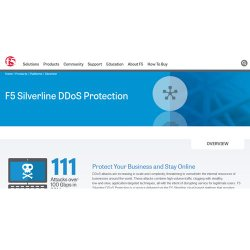 F5 image: This cloud-based service protects you from a variety of DDoS attacks, including high-volume and application-targeted threats.