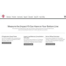 F5 image: This service offers several tools, including calculators to help you test your current data center and network performance.