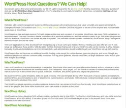 A2 Hosting image: The frequently asked questions (FAQs) section provides you useful insight to the things WordPress is capable of doing.