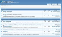 DreamHost image: You can turn to DreamHost customers in the discussion forums to find answers to common questions.