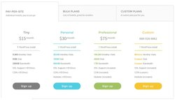 Flywheel image: Flywheel offers several different pricing tiers, as well as a custom plan option for blogs that don't fit the typical mold.