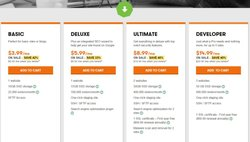 GoDaddy image: GoDaddy offers four different pricing plans, each with different storage amounts and allowed monthly visitors.
