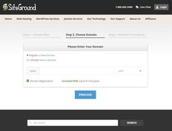SiteGround image: You only have to go through three steps to get set up with SiteGround's hosting services.