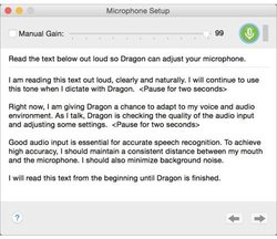 Dragon for Mac image: Once you set up your microphone you can start dictating.