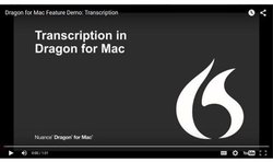 Dragon for Mac image: A feature demo at the website shows you how to transcribe audio records using this software.