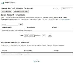 Email accounts come with the usual tools, including autoresponders and forwarding.
