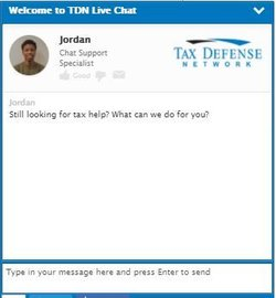 Tax Defense Network has live chat so you can ask questions and receive quick answers online.